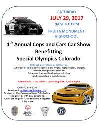 Colorado Mesa University Map by Cops And Cars Car Show City Of Fruita Colorado