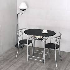 2 chair kitchen table set costway 3 pcs bistro dining set table and 2 chairs kitchen furniture