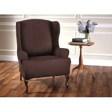 Wing Chair Slipcover Pattern Wing Chair Recliner Slipcover Pattern White Denim Wingback Box