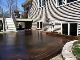 Stain Concrete Patio by Black Acid Stain Photo Gallery Directcolors Com