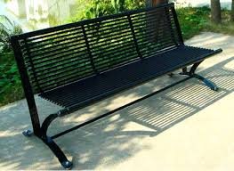 Steel Garden Bench Jardin Outdoor Steel Frame Bench Isabella Red Metal Outdoor Bench