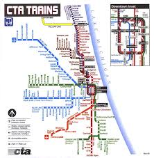 Metro Map Chicago by L Map Tablesportsdirect