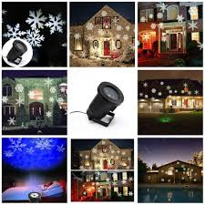projector light moving white snowflakes spotlight l