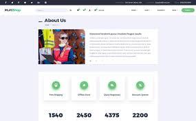 multishop responsive ecommerce html website template 65542