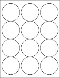 1 Inch Circle Template by White Uncoated Labels 2 1 2 Diameter Circle Lt6050 12c