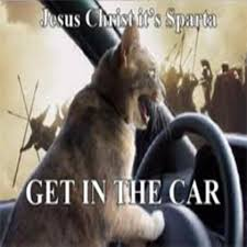 Jesus Cat Meme - funny cat jesus christ it s sparta get in the car roblox