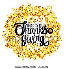happy thanksgiving day gold glitter lettering on black stock
