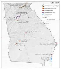 Chattahoochee River Map Units Of The National Parks System South Writ Large