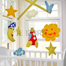 baby crib mobile felt kids toys stock photo picture and royalty