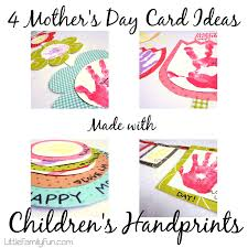 little family fun 4 mother u0027s day card ideas handprints
