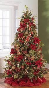 Christmas Tree Decorating Ideas Poinsettia Christmas Tree Christmas Decor Pinterest
