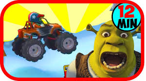 monster trucks cool video game cartoon about cars drive on typewriters buy cool video