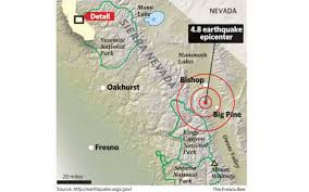 Fresno City College Map Series Of Earthquakes Shakes Parts Of Central California The