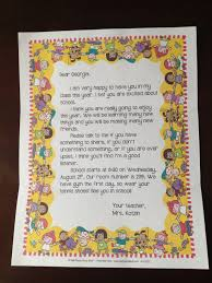 welcome back letter to students and parents from teacher