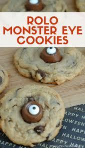 rolo monster eye cookies recipe easy halloween treats monster
