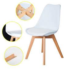 Esszimmerst Le Sale 4er Set Esszimmerstühle Mit Massivholz Buche Bein Retro Design