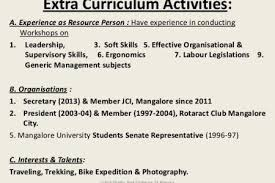 extracurricular activities resume examples example