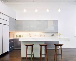 apartment modern open plan kitchen design with marvelous white