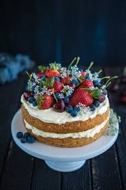 sponge cake with berries and cherries the hungry australian
