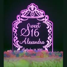 16 cake topper personalized sweet 15 16 tiara design birthday cake topper