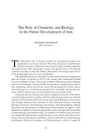 the role of chemistry and biology in the future development of