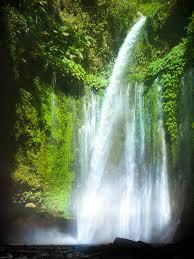 tiu kelep waterfall at north lombok indonesia explore