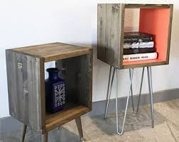 Cube Side Table Cube Side Table Etsy
