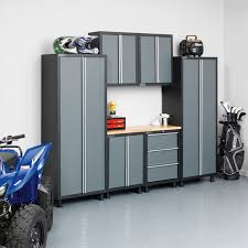 new age pro series cabinets newage bold series 24 gauge steel 7 piece cabinet set costco uk
