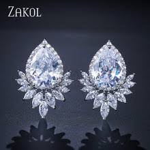 brinco zirconia zakol official store small orders online store hot selling and