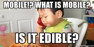 Baby Phone Meme - mobile what is mobile is it edible asian baby on phone meme