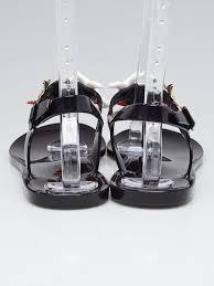 yves saint laurent black starfish jelly sandals size 10 5 41