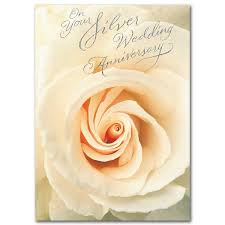 on your silver wedding anniversary 25th wedding anniversary card