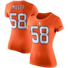 Orange Colors Names Women U0027s Denver Broncos Von Miller Nike Orange Player Pride Color