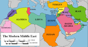 mid east map map of the modern middle east