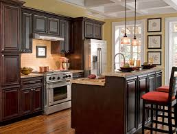dark kitchen cabinets kitchen mediterranean with high ceiling