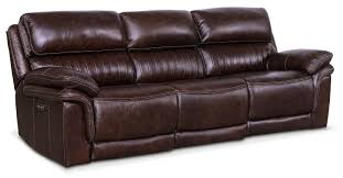 Sofas Monterey 3 Piece Power Reclining Sofa Chocolate Value City