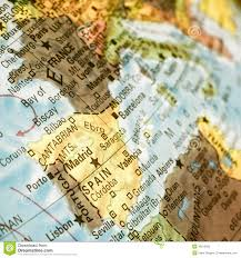 Portugal And Spain Map by Map Of Spain And Portugal Close Up Image Stock Photo Image