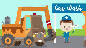 construction car wash song for kids construction trucks for