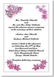 wedding invitation template order form