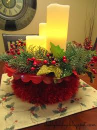 christmas decor for center table shelly bailey christmas table and dining room decorations