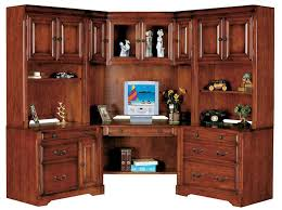 Computer Desk With Hutch Cherry Sauder American Cherry Corner Desk And Hutch Bedroom Ideas And