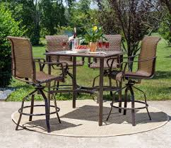 Outdoor Dining Patio Sets - rochester woven 5pc bar height high dining patio set u2013 la z boy