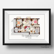 Floor Plans Apartment by How I Met Your Mother Apartment Famous Tv Show Floor Plan