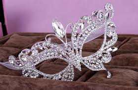 diamond studded in stock gorgeous diamond studded party mask crowns