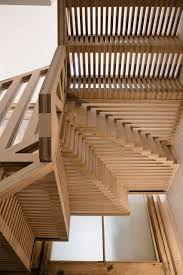 stair case tsuruta architects designs staircase from hundreds of plywood pieces