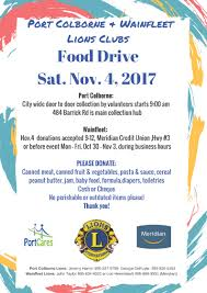 thanksgiving food drive items port cares serving our community since 1986