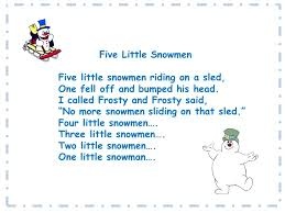 rockin with the five snowmen song and song chart