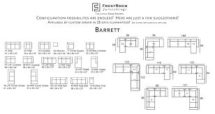 Palliser Barrett Leather Sectional Palliser Frontroom Furnishings