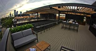 rooftop patio harlowe mxm opens a massive rooftop patio and dining complex in deep