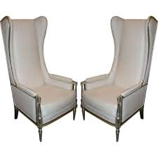 Wing Back Armchairs Pair Of Stunning Louis Style Tall Wingback Armchairs At 1stdibs